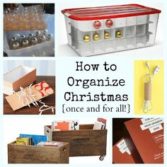 Must-Read Christmas Organization and Storage Ideas!  Great to read now so you can stock up on organizers and materials to store all your Christmas decorations.