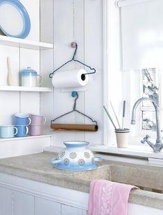coat hanger towel rack