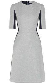 Richard NicollIllusion scuba-jersey and silk-blend jersey dress Mid-length sleeves
