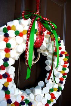 marshmallow wreath!! minus the gumdrops