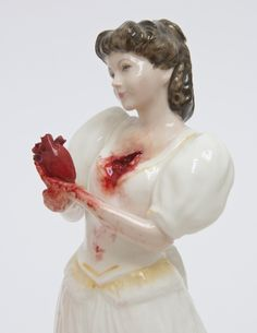 "LOVE. Jessica Harrison, ""Karen"" (2013), Found ceramic, epoxy resin putty, enamel paint"