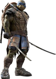 Leonardo's new look from the new 2014 Teenage Mutant Ninja Turtles movie.