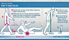 How to walk on ice without falling on your butt! Walk like a penguin! This is why one of my brothers and my dad walk like penguins....