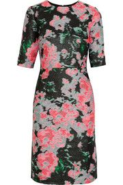 Erdem Ivy silk-blend jacquard dress Mid-length sleeve