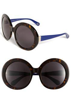 Diane von Furstenberg 'Gloria - Oversized' Round Sunglasses