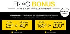 Bon plan FNAC : 40 euros pour 25 euros et 200 euros pour 150 euros - http://www.bons-plans-malins.com/bon-plan-fnac-40-euros-25-euros-200-euros-150-euros/ #High-tech, #Jeuxvidéo, #JouetsJeux, #Maison/Deco, #Photos