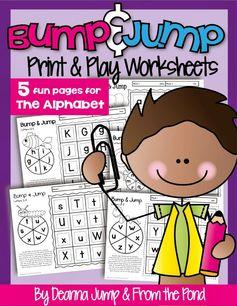 FREE!   Alphabet Bump & Jump Printables