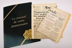 Journal du jour de sa naissance : 12,5 euros le bon d'achat de 25 euros (ou 15 les 30€) - http://www.bons-plans-malins.com/journal-du-jour-naissance-12-5-euros-bon-achat-25-euros/ #Autres, #Deal