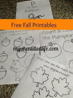 Get your Fall Printables here!