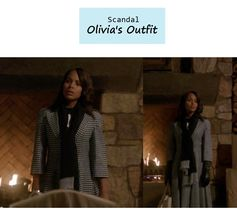 """On the blog: Olivia Pope's (Kerry Washington) houndstooth fit and flare coat & leather gloves 