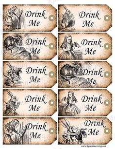 DRINK ME Alice in Wonderland