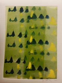 Peaks & Valleys, 2015 Monoprint Yolanda Cotton Turner