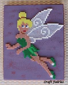 Tinker Bell /  Perler Beads - Hama perlen - Bügelperlen
