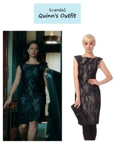 "On the blog: Quinn's (Katie Lowes) lace printed sheath dress | Scandal - ""Mrs. Smith Goes to Washington"" (Ep. 303) #tvstyle #tvfashion #outfits #fashion"
