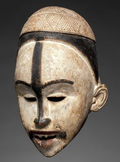 Kongo peoples (Yombe group, Democratic Republic of the Congo, Republic of the Congo, or Cabinda, Angola), Mask, ca. 19th to early 20th century, wood and pigment. COURTESY THE METROPOLITAN MUSEUM OF ART/STEVEN KOSSAK, THE KRONOS COLLECTIONS, NEW YORK