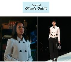 "On the blog: Olivia Pope's double breasted boxy jacket | Scandal - ""Say Hello to My Little Friend"" (Ep. 304) #tvstyle #tvfashion #outfits #fashion"