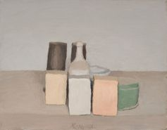 Giorgio Morandi, Natura morta (Still Life), 1956, oil on canvas. ©2015 ARTISTS RIGHTS SOCIETY (ARS), NEW YORK/SIAE, ROME/PRIVATE COLLECTION, SWITZERLAND