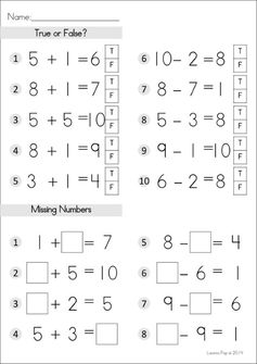 FREE Addition and Subtraction worksheet by Lavinia Pop