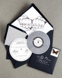 Courtney + Paul's Brooklyn Wedding Invitations by http://www.swisscottagedesigns.com/