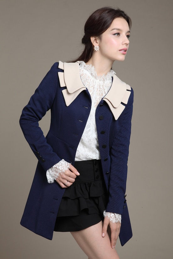 sweet Korean Slim long coat