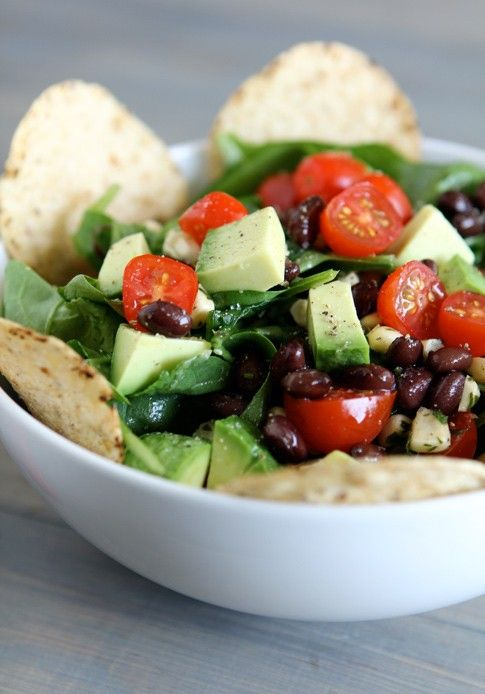 Mexican Spinach Vegan Salad