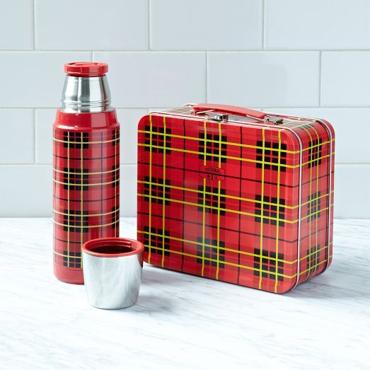 Perfect for storing meals and drinks on the go, this Heritage Traveling Collection comes in a red plaid print. It'll be a stylish and helpful staple for camping trips, picnics, and more.