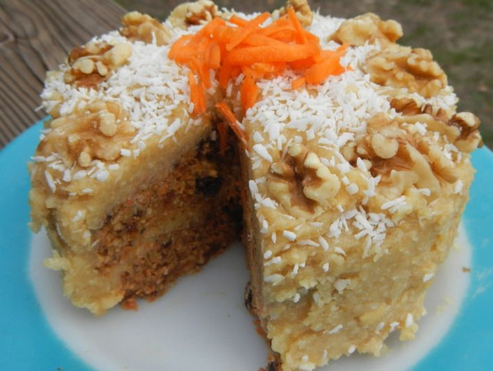 amazing, raw, vegan, grain free, carrot cake