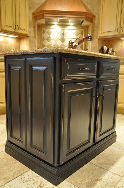antique black painted kitchen island new home ideas pinterest on kitchen island ideas black id=11221