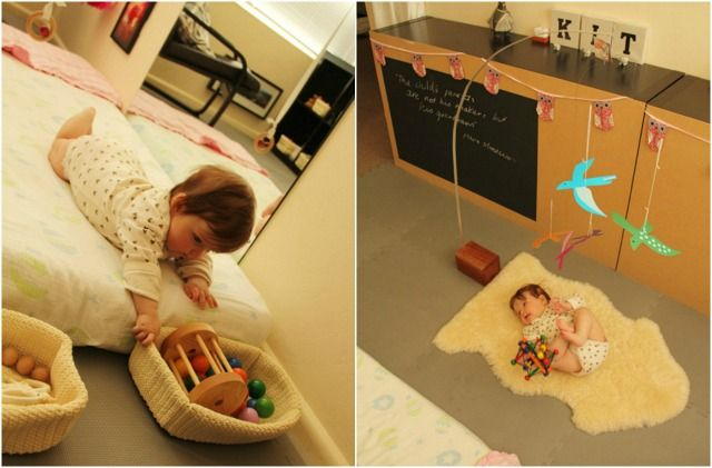 Kit is active in her Montessori Room