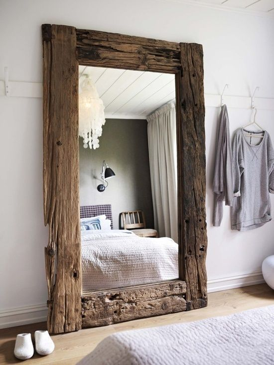 Large Rustic Mirror-Can I do with this with that old mirror in the stairwell closet?  For the master?
