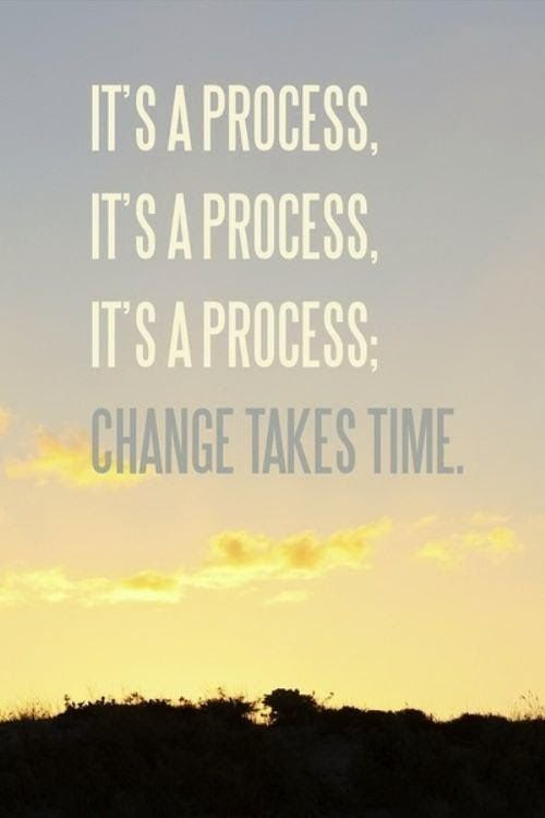 Sometimes, it's a good reminder to know that change is never immediate. It takes times and to have patience.
