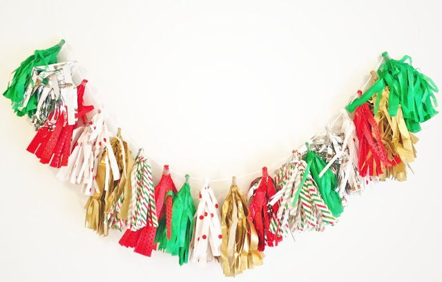 DIY Holiday Tassel Garland