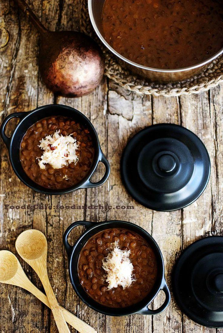 Lentejas con curry rojo y centollo. @Food&Chic