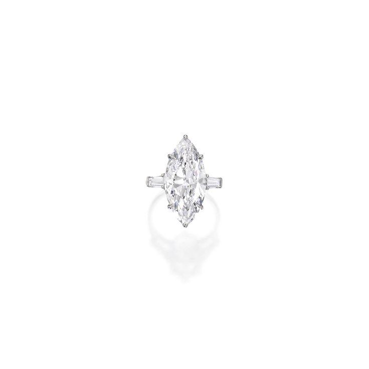 Platinum and Diamond Ring
