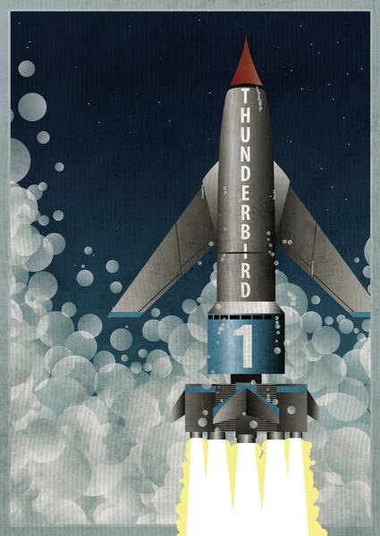 Thunderbird 1 Art Print by WyattDesign