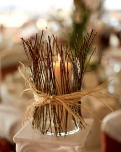 fall wedding centerpiece idea with branches.