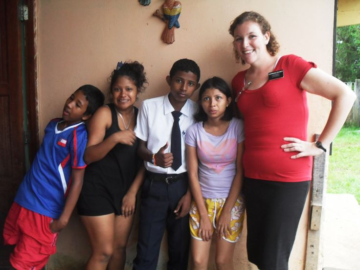 Alicia and her siblings, whom I was teaching.