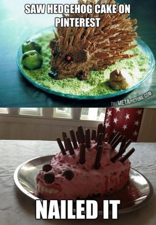 Pinterest Fails: Hedgehog Cake