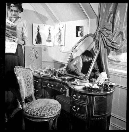 Coco Chanel in her private room at Hotel Ritz in Paris, chambre n°302.