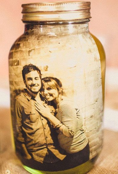 Click Pic for 40 DIY Valentine Gift Ideas for Boyfriend & Husbands - Picture in a Mason Jar
