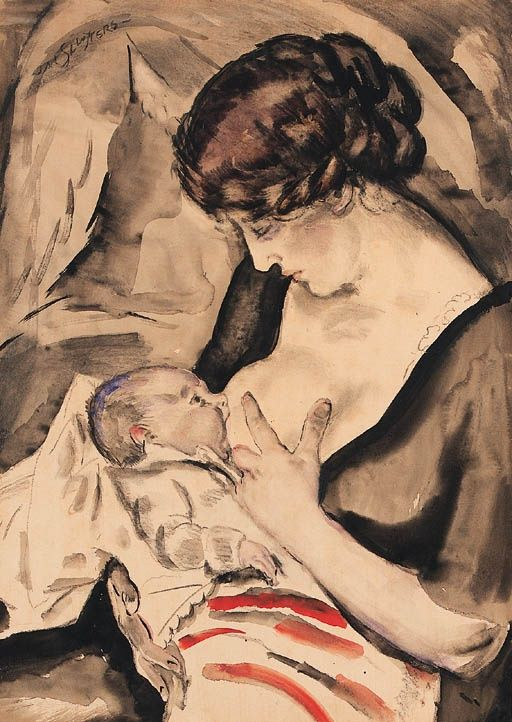 Tender happiness, Jan Sluijters. Dutch (1881 - 1957) - Google Search. #embrace #lifeisagift #mothers #art