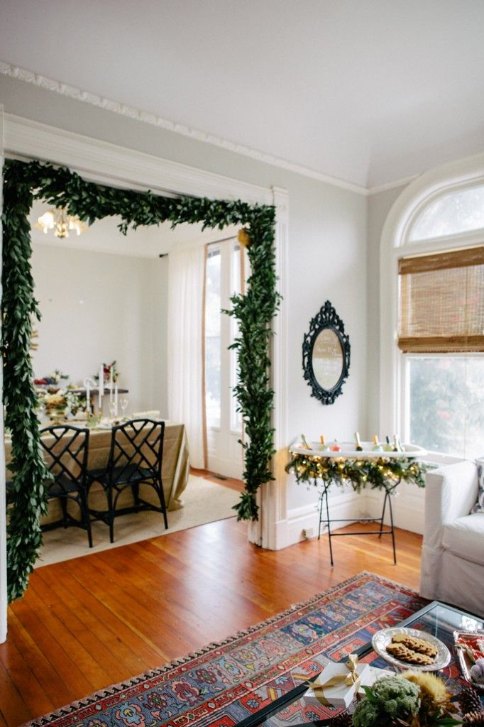 garland in doorframe