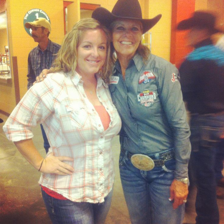 Mary Walker and I at the WPRA Rodeo in Kissimmee, FL. Ran into her coming up the stairs and she is seriously the nicest lady ever!