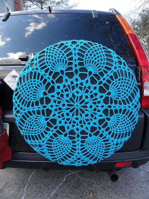 spare tire doily. These always crack me up.