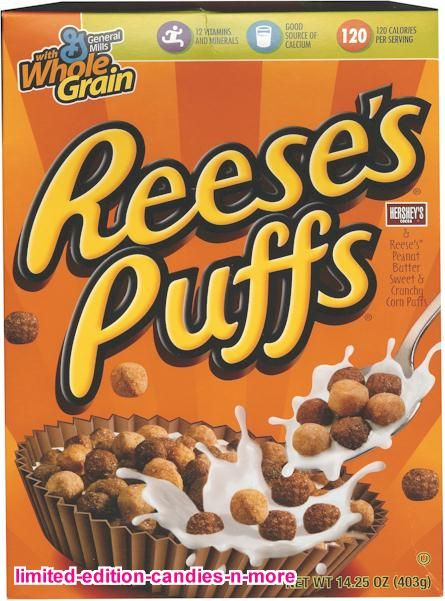 "Reese's Puffs- my favorite ""sugary"" cereal."