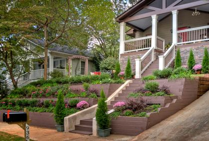 tiered landscaping front yard | Home Improvement ... on Tiered Yard Ideas  id=70398