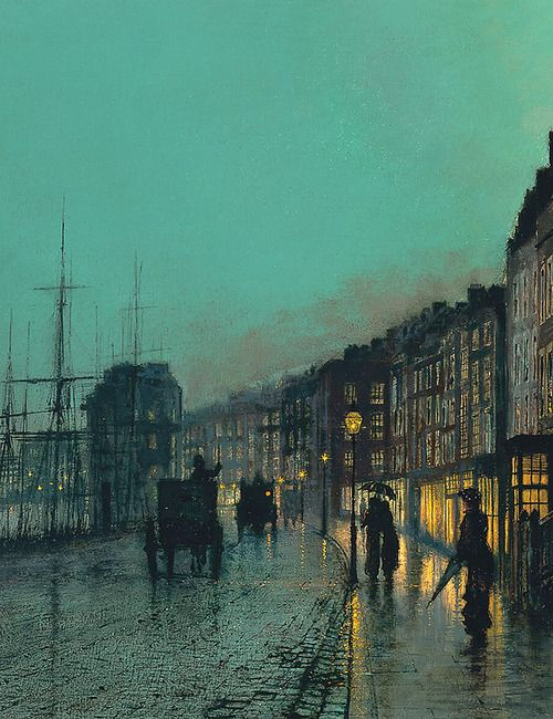 Shipping on the Clyde by John Atkinson Grimshaw, 1881.
