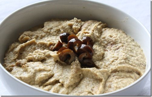 Black Olive Hummus: This has a strong flavor of a tapenade but with all the creaminess of a hummus. LET ME EAT THIS RIGHT NOW.