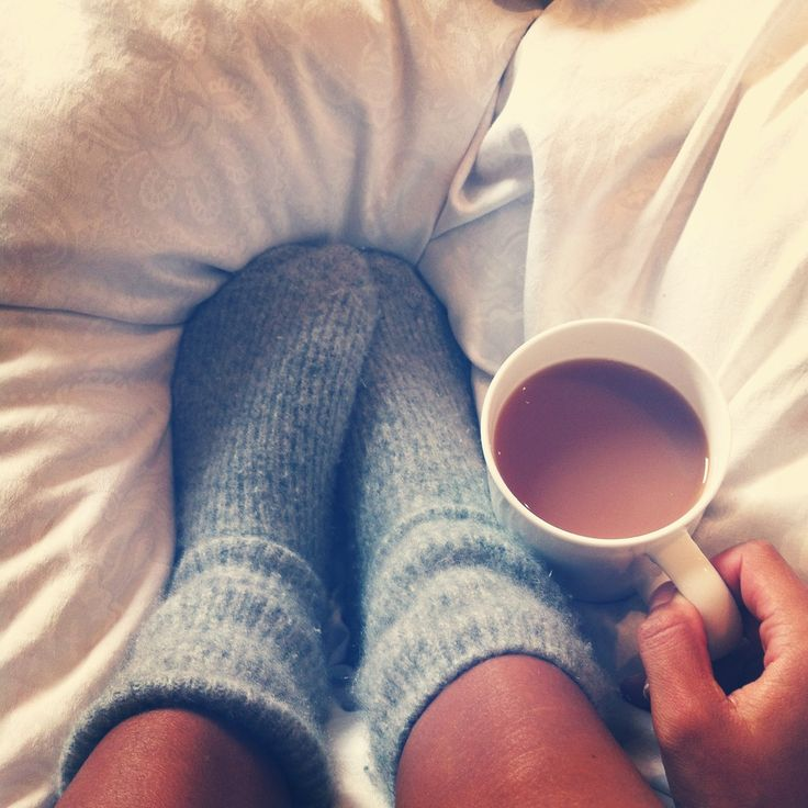 socks and coffee makes for a happy girl