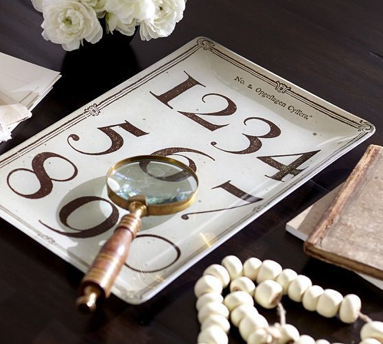 Decoupage Typography Tray | Pottery Barn
